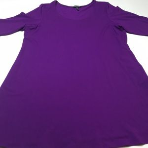 Eileen Fisher Women's jersey dress Purple XL